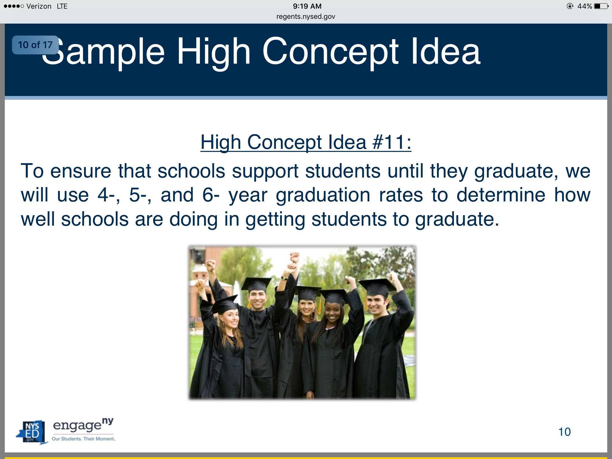 Sample @NYSEDNews high concept idea, grad rates, @NYSPTA addressed in ESSA comments to US DOE https://t.co/H4C6w40w1I