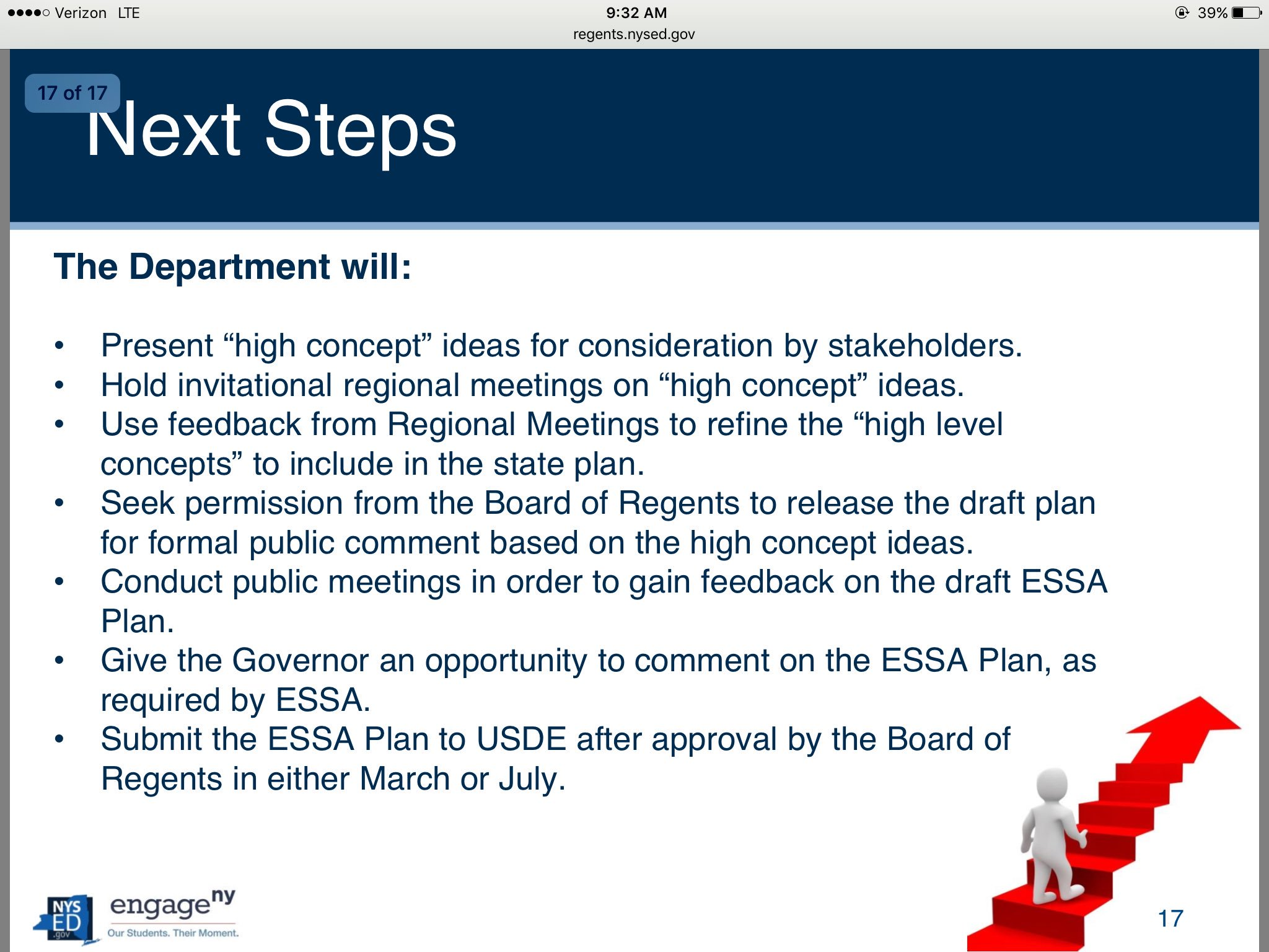 Next steps in ESSA plan development @NYSEDNews @NYSPTA https://t.co/YFONosobJf