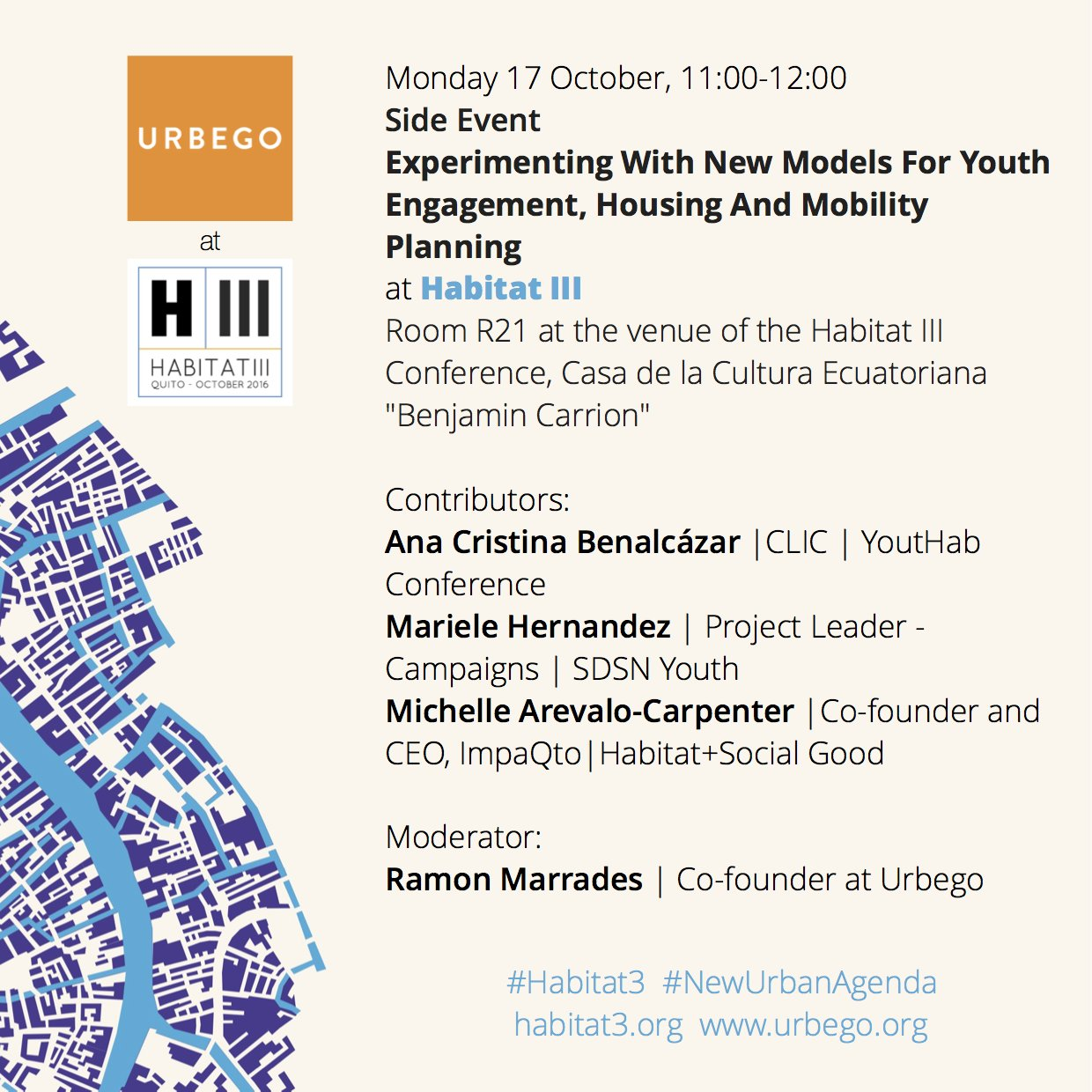 Join our side event today at #Habitat3. Experimenting with new models for urban development. #NewUrbanAgenda #NuevaAgendaUrbana https://t.co/8iTcPEcj8l
