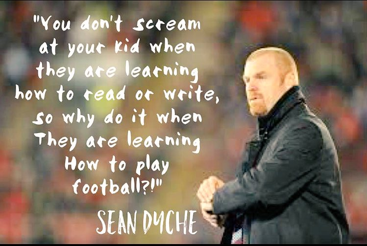 Absolutely love this from Sean Dyche #SoTrue #learning #letthemplay https://t.co/6czoR53e20