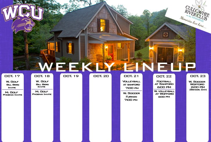 Catamount Weekly Line-up  (10-23-16)