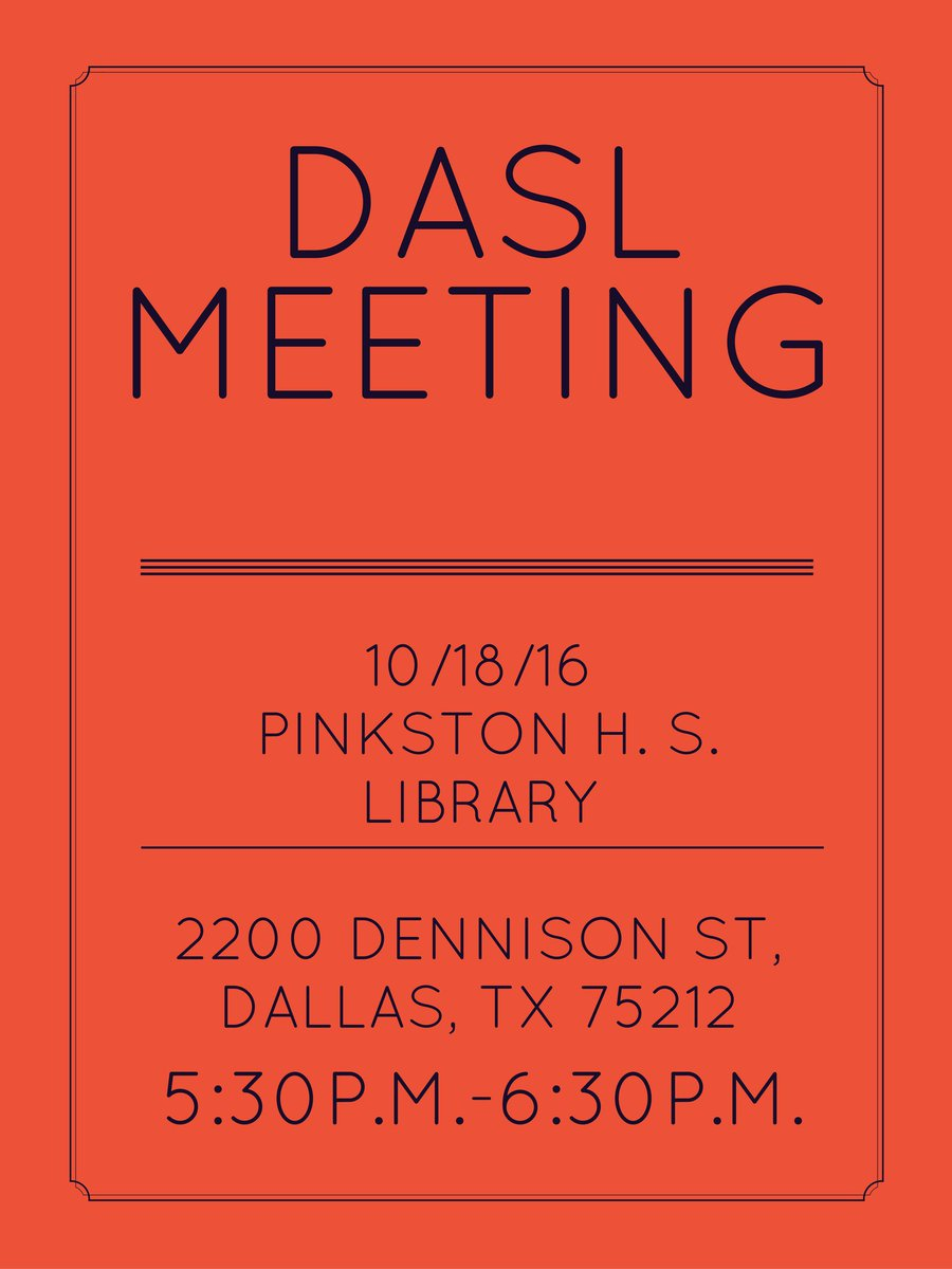 Our next meeting is Tuesday, 10/18/16 at the Pinkston High School Library. 5:30 p.m.-6:30 p.m.