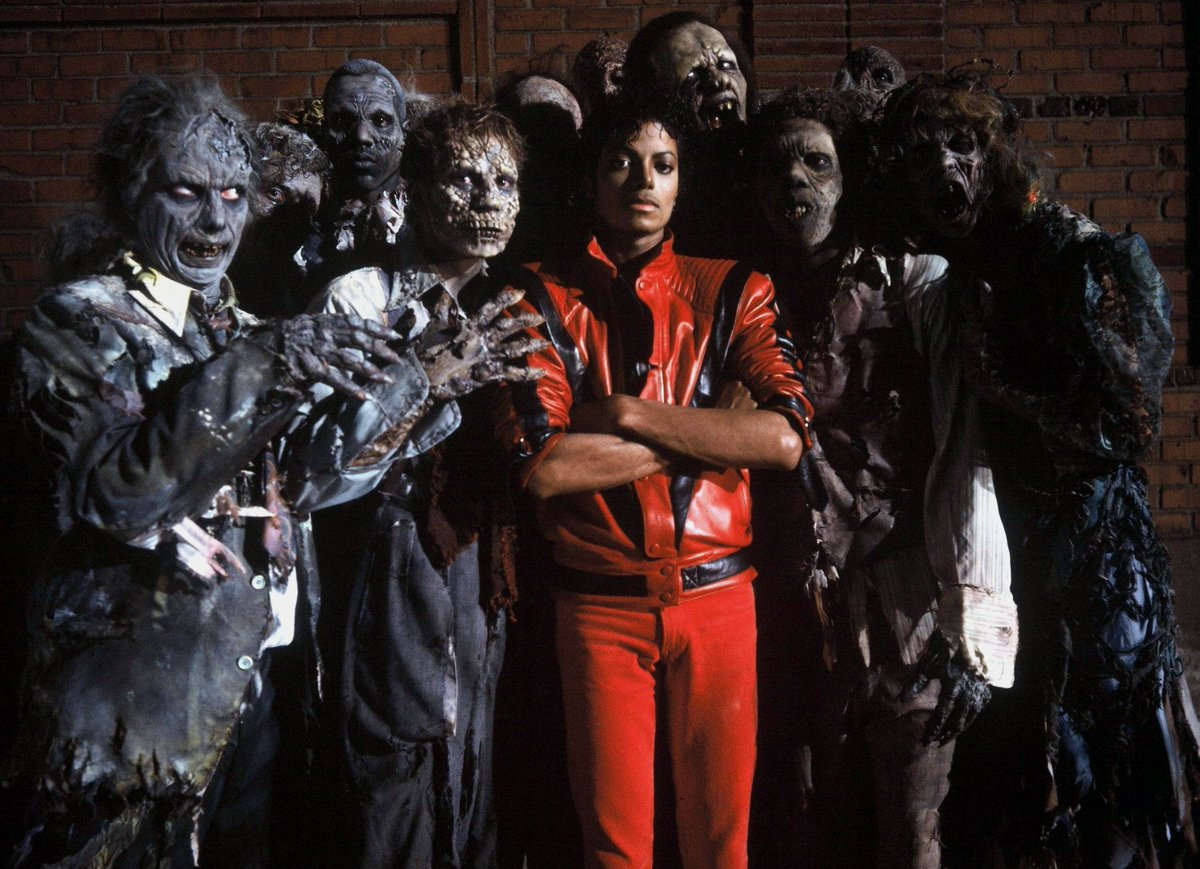 """Stan Winston School on Twitter: """"Michael Jackson and Zombies from Thriller  (1983).… """""""