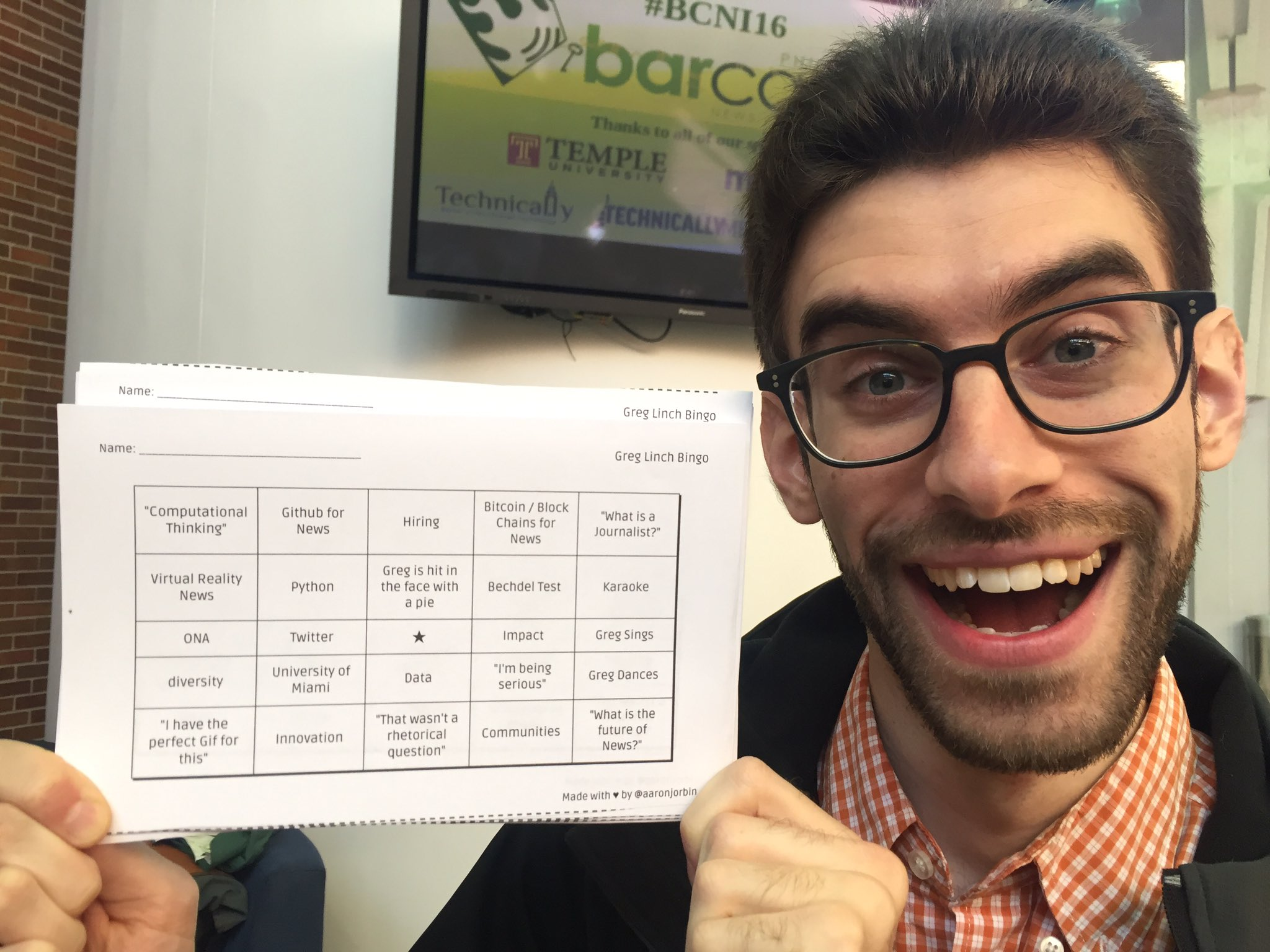 Who is excited to play @greglinch bingo at #bcni16 ? https://t.co/LSppgkq5US