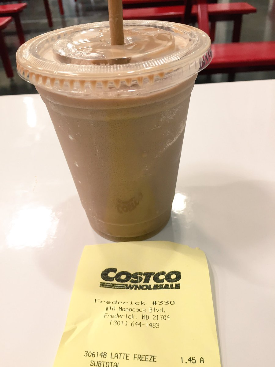 Chris Cason On Twitter I Love The Latte Freeze FrederickMD Costco Drink It To Fast BrainFreeze