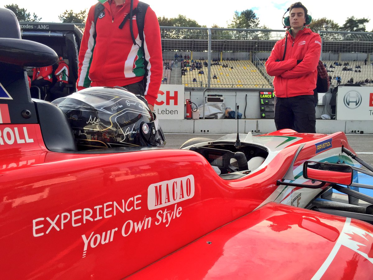 It's almost time for #Race2 & we're on the way to the @fiaf3europe grid with our pole position man @lance_stroll