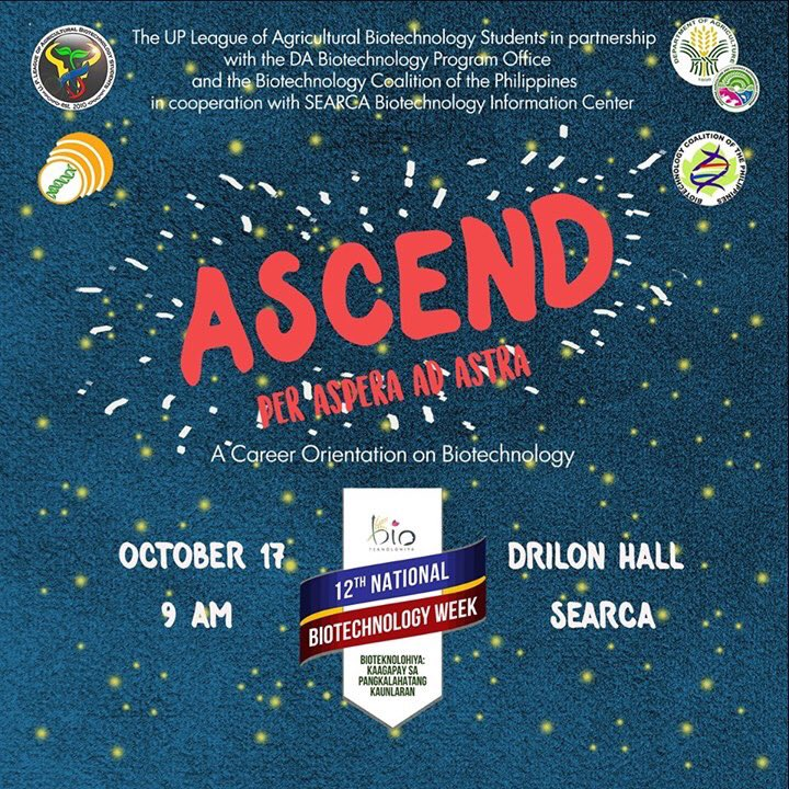 ASCEND PER ASPERA AD ASTRA: A Career Orientation on Biotechnology @ Drilon Hall, SEARCA