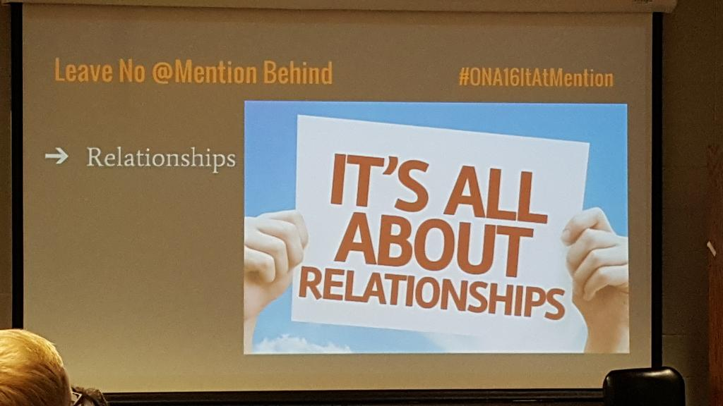 It's all about Relationships says @MsArnold #bcni16 https://t.co/TJKO9zN4tb