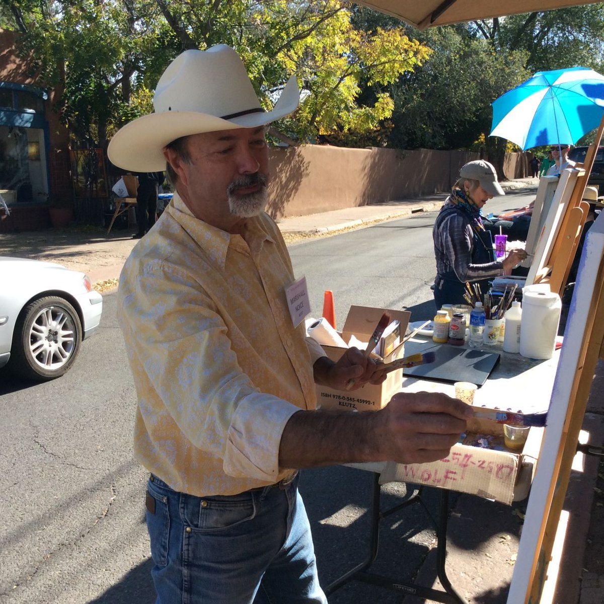 Enjoy a day filled with fine art! Join us today from 10 - 4 for the Canyon Road Paint Out and Sculpt Out. https://t.co/OZnsMC3ZES