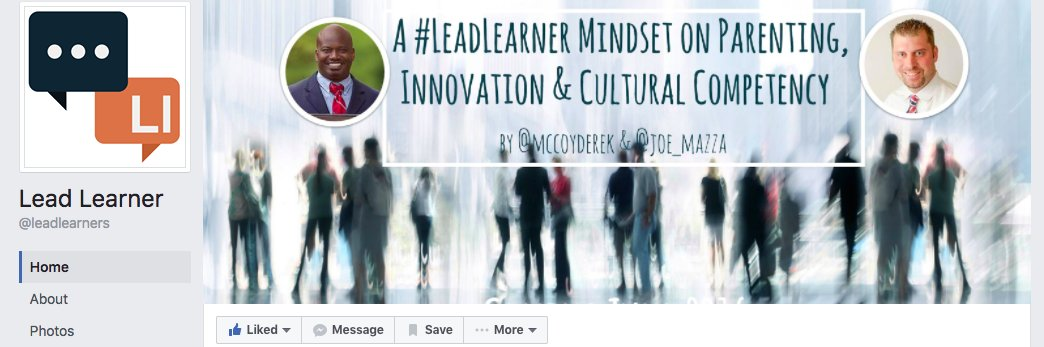 Check out LeadLearner Facebook page, led out by @Joe_Mazza  and @mccoyderek! https://t.co/gZWgmZKFTm #WGEDD #parentcamp #edcampdallas https://t.co/5uUrnfSu0m