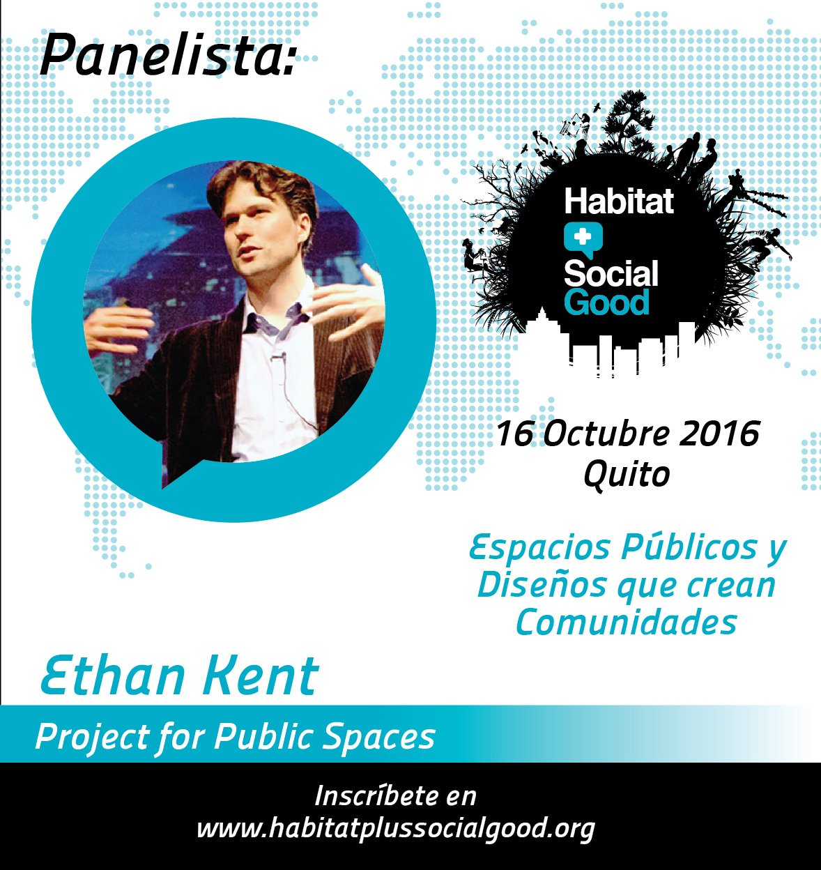 @ebkent de @PPS_Placemaking es otro de los panelistas de #HabitatSocialGood ¡No te pierdas el evento de mañana!  https://t.co/jD7vRRp3Bz https://t.co/giEla7ZZJa