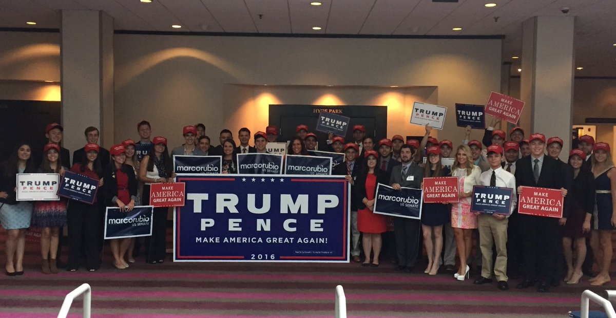 Florida CRs support @realDonaldTrump, @mike_pence, and @marcorubio