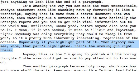 BREAKING: Wow. I don't say this very often, but this is a game-changer. #Wikileaks