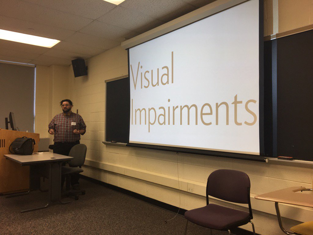 1/8 men and 1/17 women have some type of visual impairment. #bcni16 Design for everyone. #accessibility https://t.co/Ga7Is1xZta