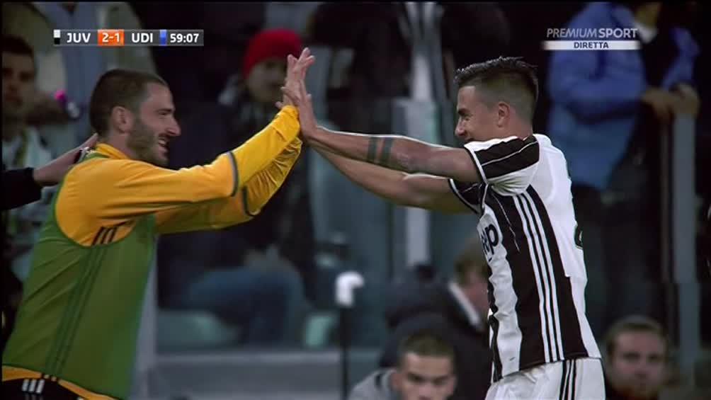 Dybala regala la vittoria alla Juventus sull'Udinese, guarda tutti i gol del match dello Stadium.