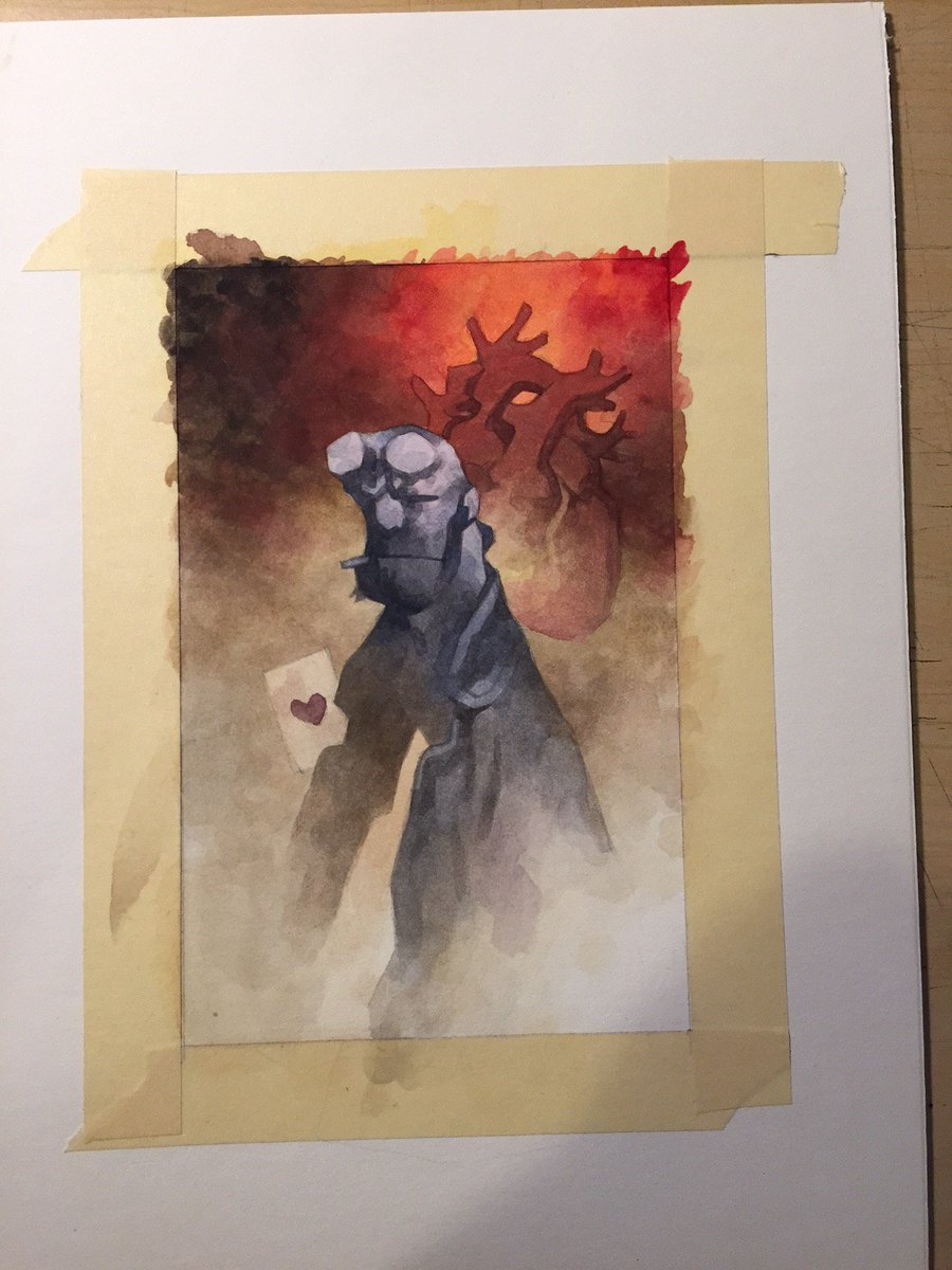 painting day... #hellboy https://t.co/p5JasWMBzb