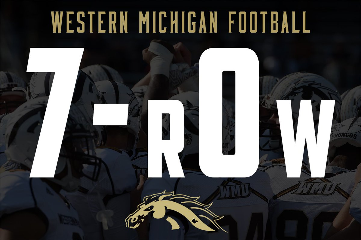 No. 23/24 Western Michigan defeats Akron, 41-0, to improve to 7-0. #gROWh16her #RTB https://t.co/2AH6tjbmon