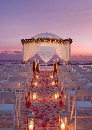 Sunset wedding!  #wedding #sunset #romance #shesaidyes #destinationweddng