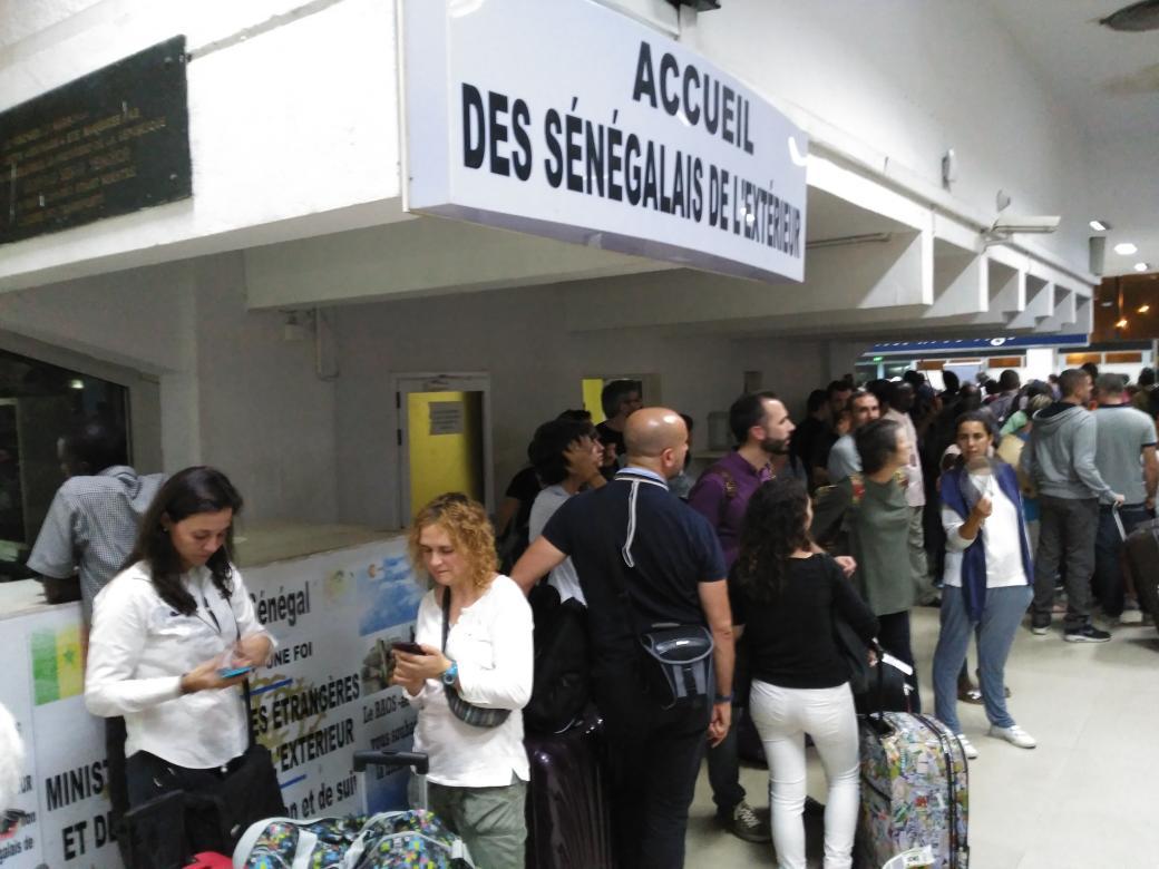 Recién aterrizados en #Senegal para Seminario #EpDSenegal @AECIDSenegal @EmbEspSenegal https://t.co/Jkvqx03Eg5