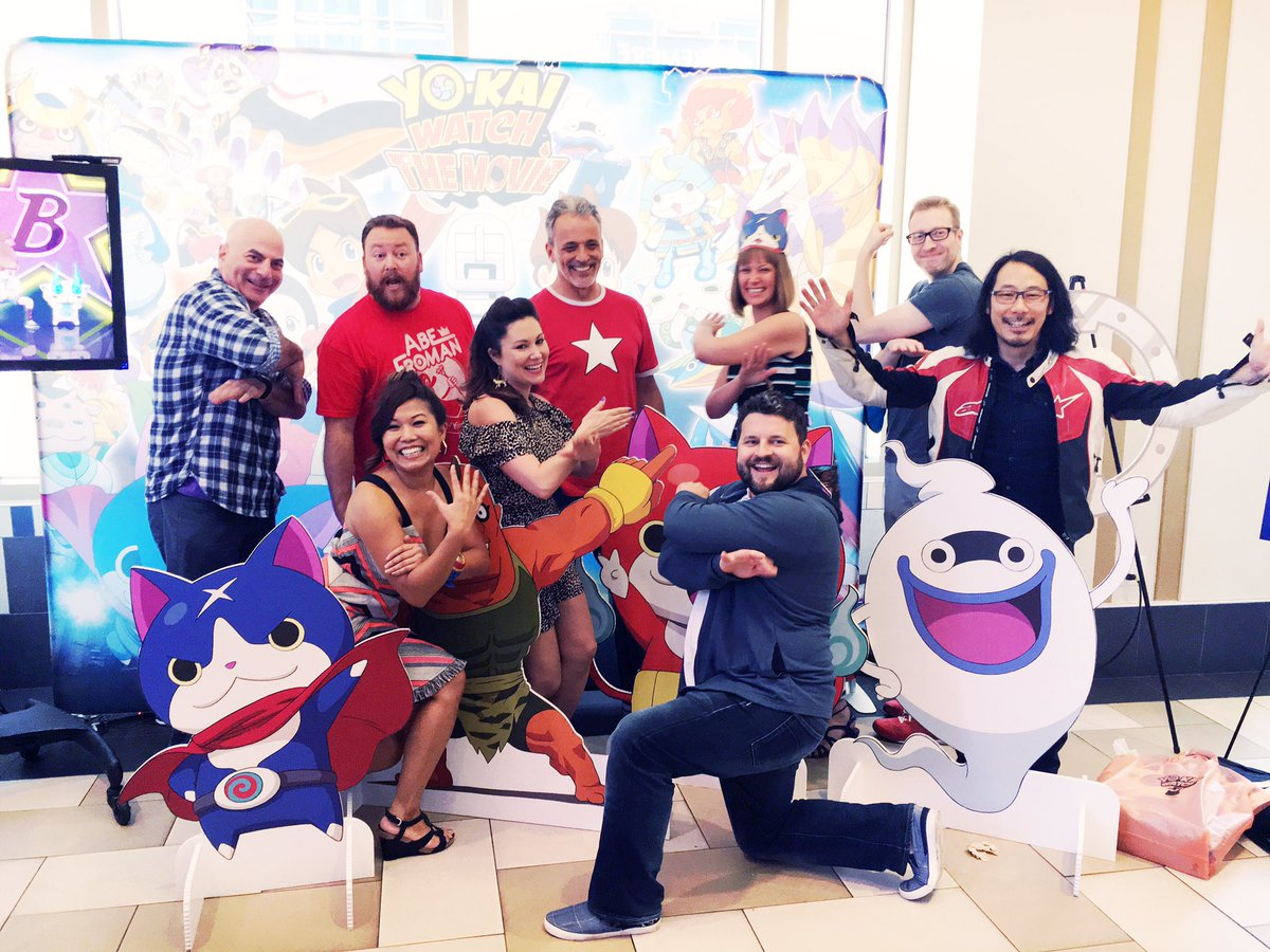 With the cast and crew for  #YokaiWatchMovieEvent