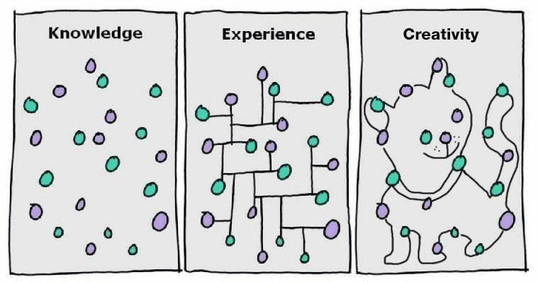 No tothom veu el mateix quan mira uns punts sobre un paper, varia en funció del coneixement, l'experiència i la creativitat que té.