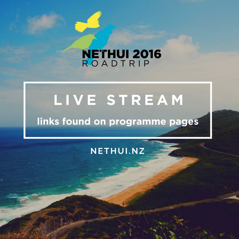 NetHui Rotorua is on tomorrow! Sessions can be watched via live stream. Links here: https://t.co/Yu0JTI7pTa #NetHui @NetHuiNZ https://t.co/yGbcLaln2g