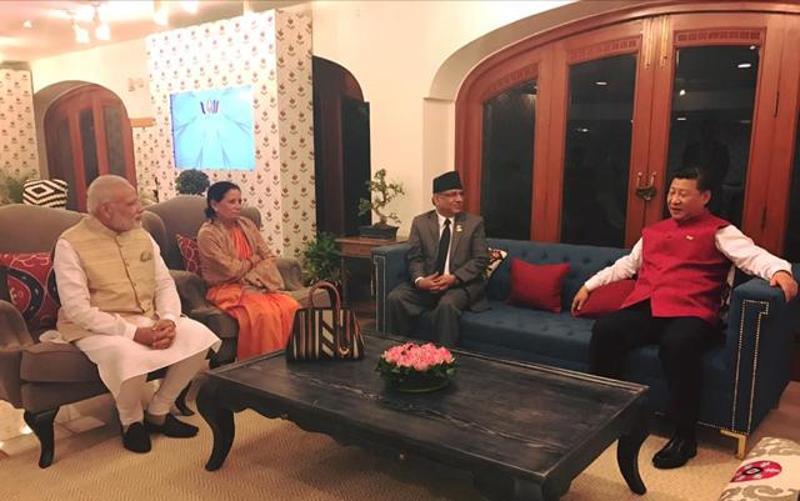 'Prachanda, Modi, Xi hold trilateral meeting in Goa'