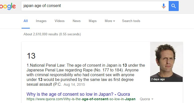 Japans sex age laws