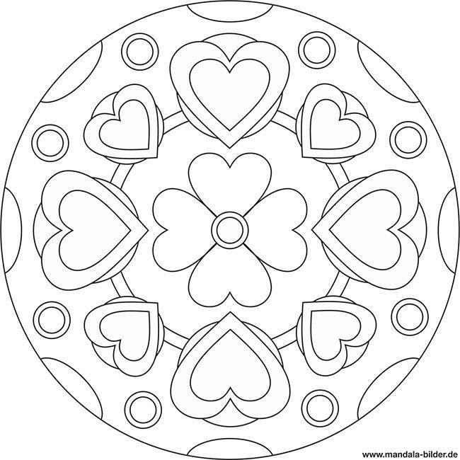 Mandala Bilder On Twitter Mandalabilder Vorlage Mit Herzen Und