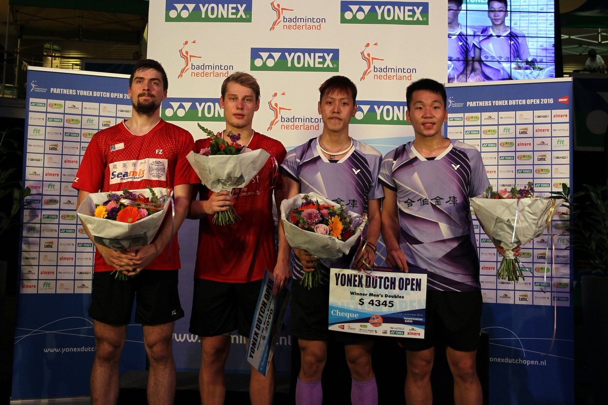 "Badminton Europe on Twitter ""Congrats Jhe Huei Lee Yang Lee"