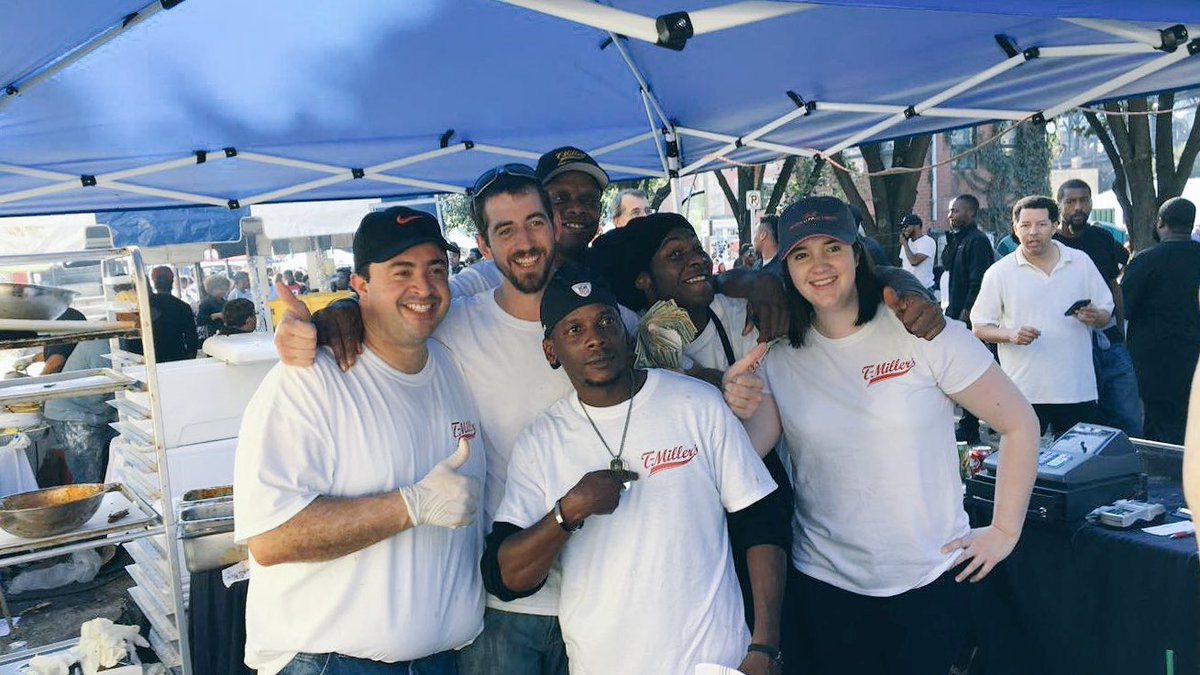With nonstop lines for 5 hours and record breaking @tmillersrva festival sales - this team is incredible! #RVA #MarriottRVA #WingFestival https://t.co/f1uVTl6f23