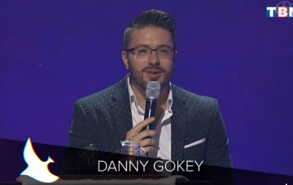 Danny Gokey presenting on the Dove Awards
