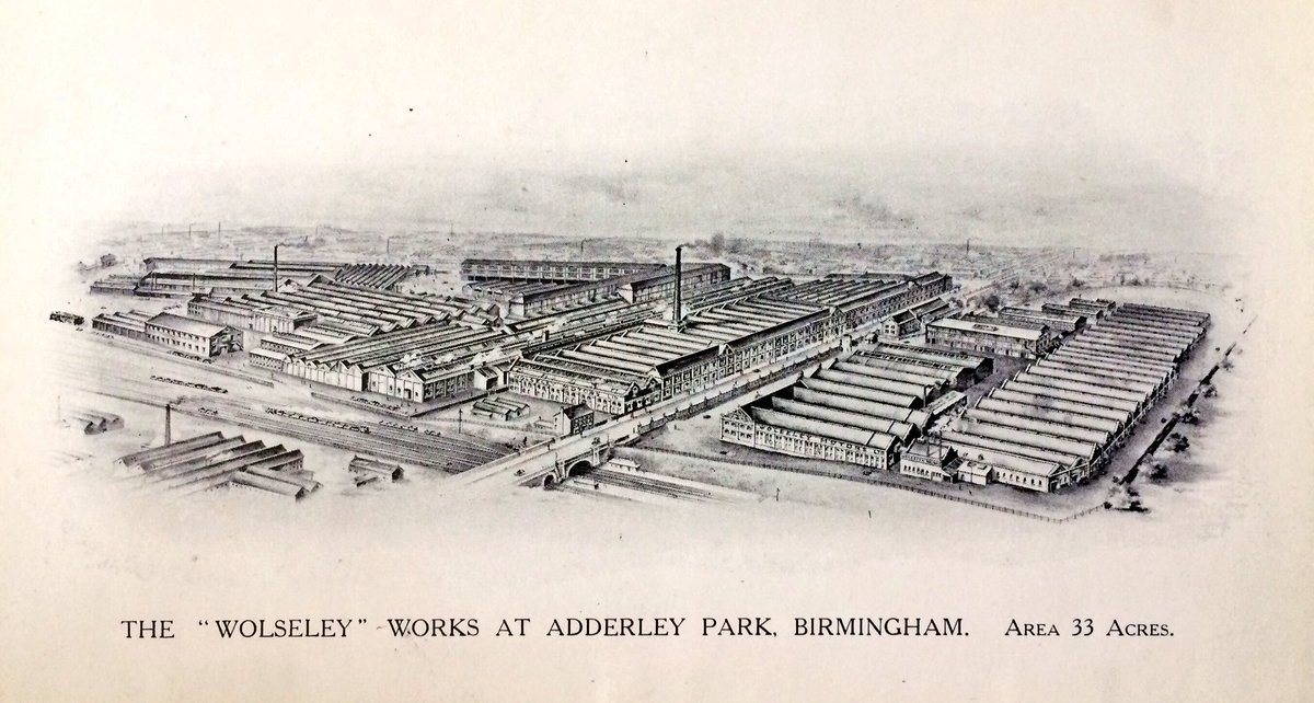 "Andrew Daw on Twitter: ""33 Acre Adderley Park #Wolseley Motors works c.1914. Bordesley Green Road through centre, Arden Road at back."