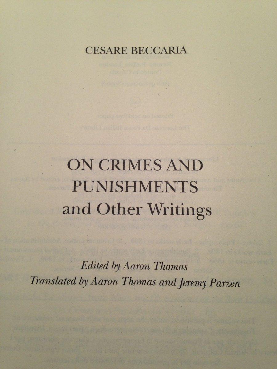 cesare beccaria writings