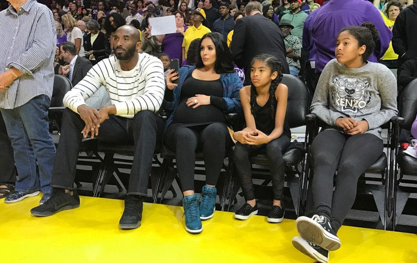 Kobe & fam checking out Game 4 of the #WNBAFinals, live on ESPN now! #WatchMeWork