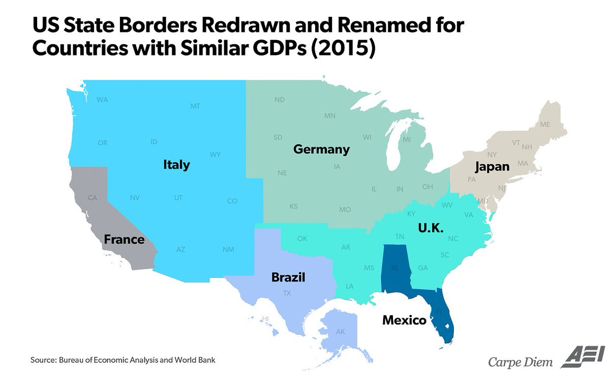 Simon kuestenmacher on twitter map compares size of economy of simon kuestenmacher on twitter map compares size of economy of regions in usa with germany italy japan and other countries httpstytjnt3bcrw gumiabroncs Images