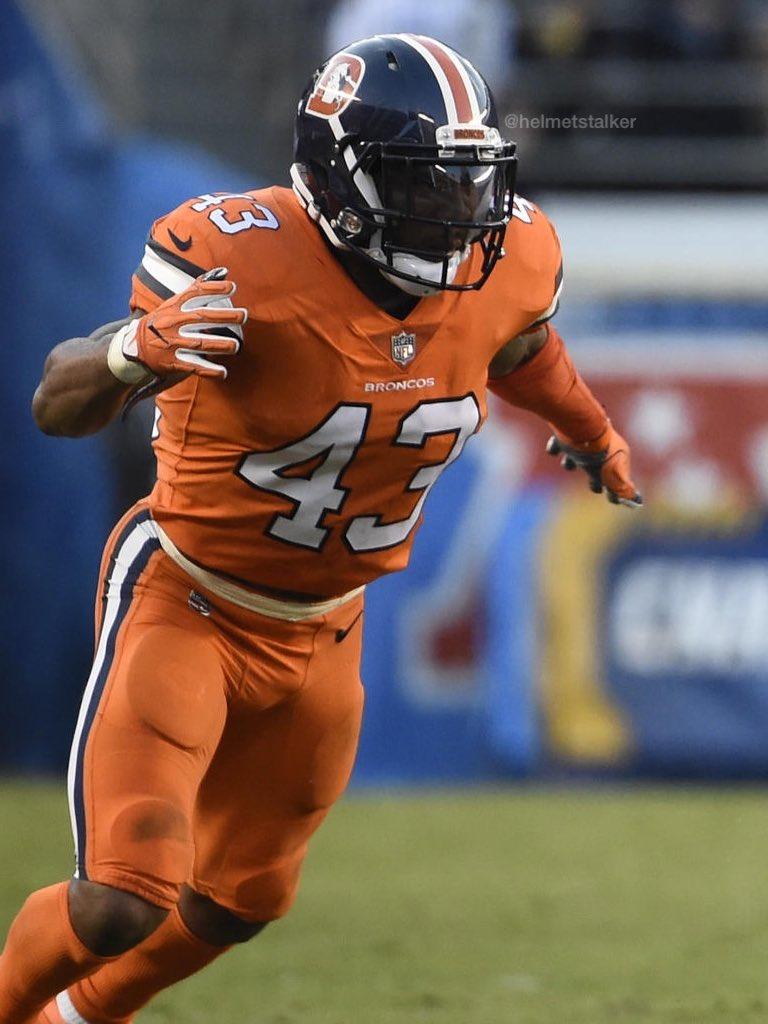 "Helmet Stalker on Twitter ""Broncos DB TJ Ward wore variation of"