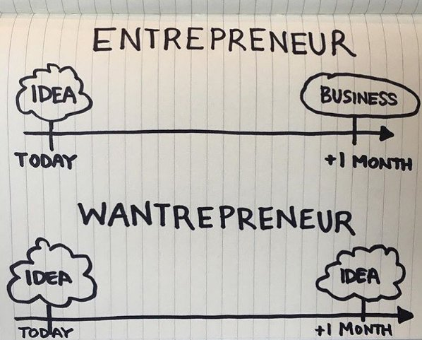 The difference between an #entrepreneur and someone who wants to be an #entrepreneur  #ActionBeatsIdea https://t.co/XRsbuu1wAv