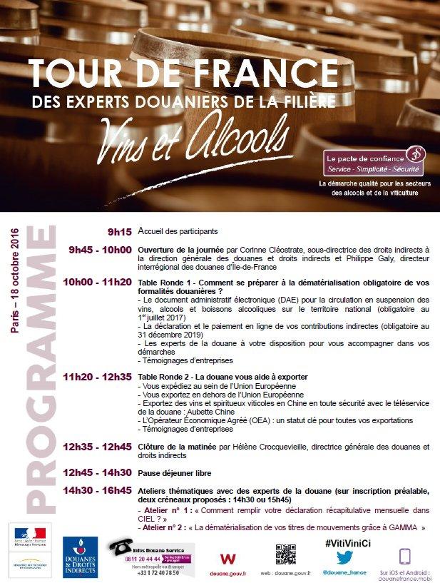 [#VitiViniCi] Le programme de la journée de demain dédiée aux #vins et #alcools à #Paris https://t.co/KzEyEOusmT