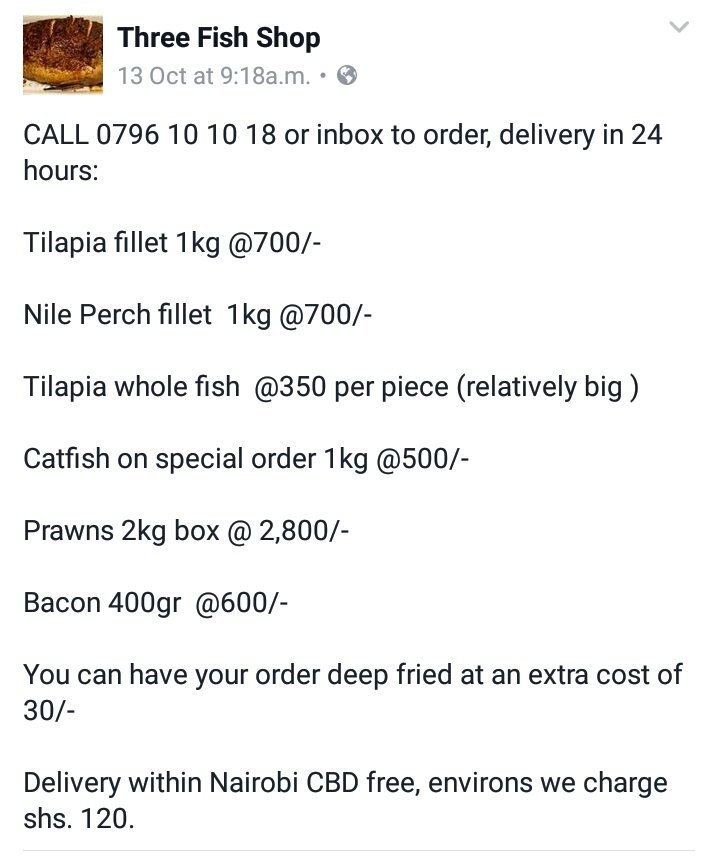 For those who love fish and would like it delivered to your doorstep https://t.co/ZmFWYkiSPJ