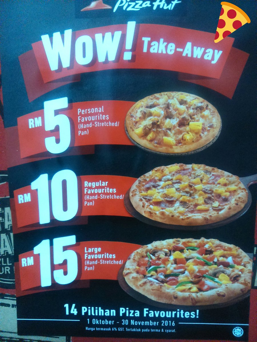 Pizza Hut Malaysia On Twitter Wow Take Away Only 14 Favourites Pizza Choices Limited Time Offer Only