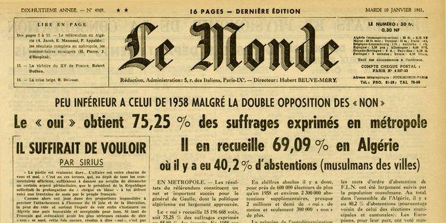 3)En janvier 1961 un référendum avait donné une très nette majorité (75 %) en Fr métrop comme en Algérie en faveur du processus de paix. https://t.co/B4IBS9IRr4
