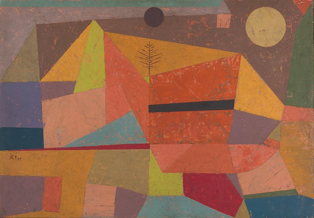 "Rabih Alameddine on Twitter: ""Goodnight, all Paul Klee, Joyful Mountain  Landscape, 1929… """