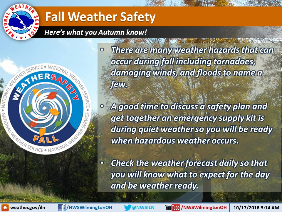 47e71dfb42 Fall Weather Safety. Here s what you Autumn know! http   ow.ly aKck305fe0Y   FallSafety  WRNpic.twitter.com jA8aEyj6BS