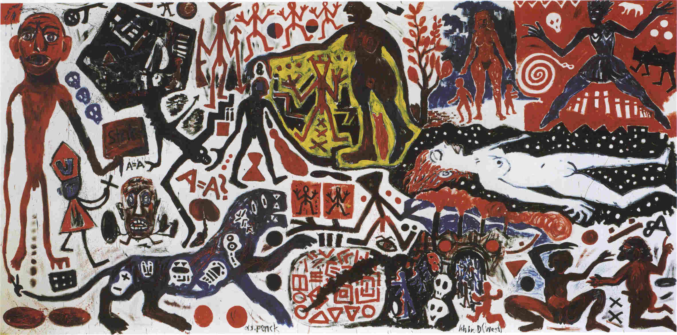 #happybirthday (Ralf Winkler) A.R. Penck (born 5 Oct 1939) is a German #painter, printmaker, #sculptor, and jazz drummer. #art #artist