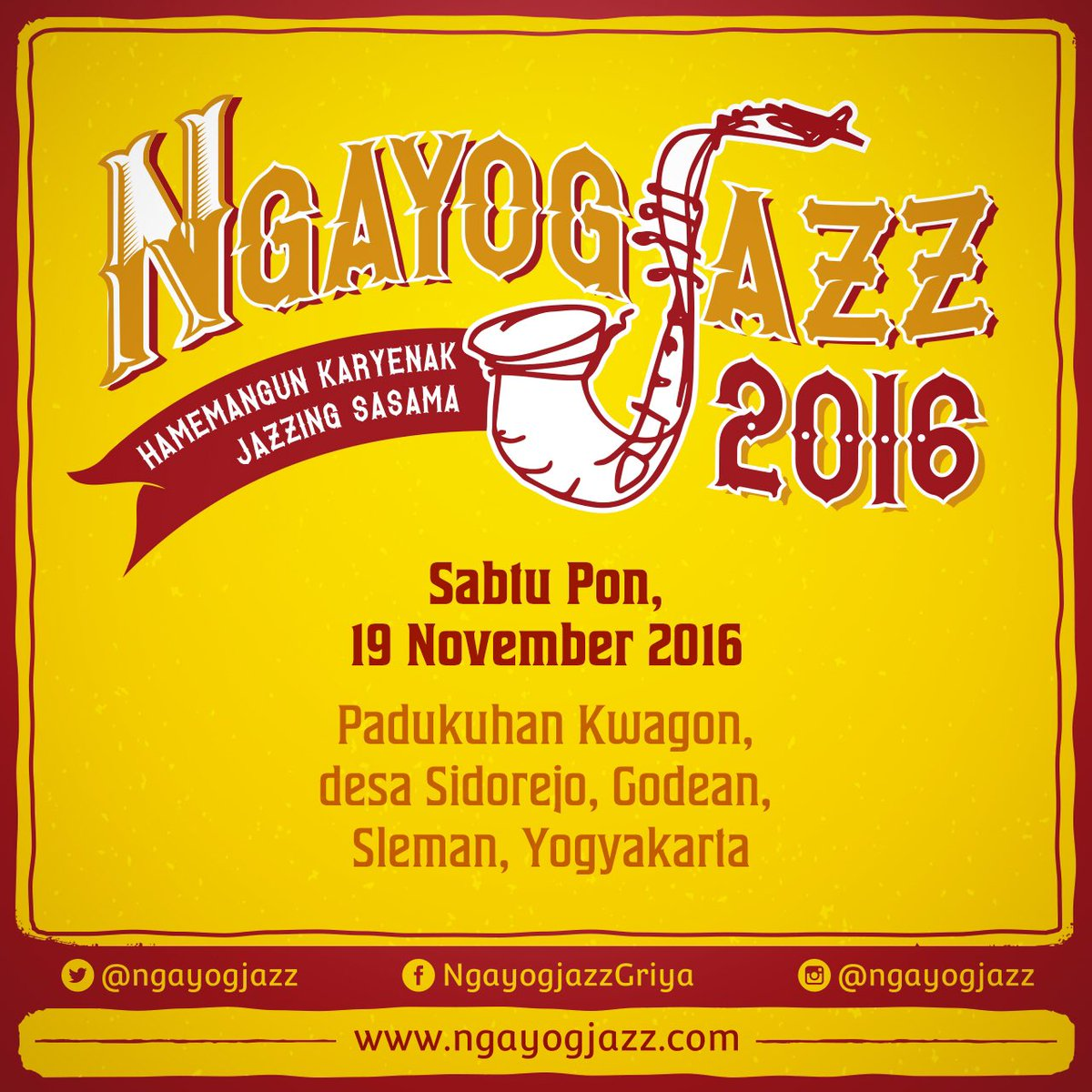 Do's Don'ts Ngayogjazz 2016