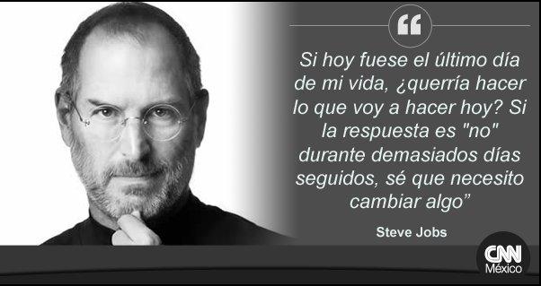 Steve Jobs Falleció Steve Jobs Filosofía Vida Frases