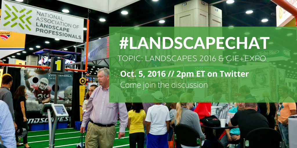 Thumbnail for 10.5.16 #landscapechat - GIE+Expo & Landscapes 2016