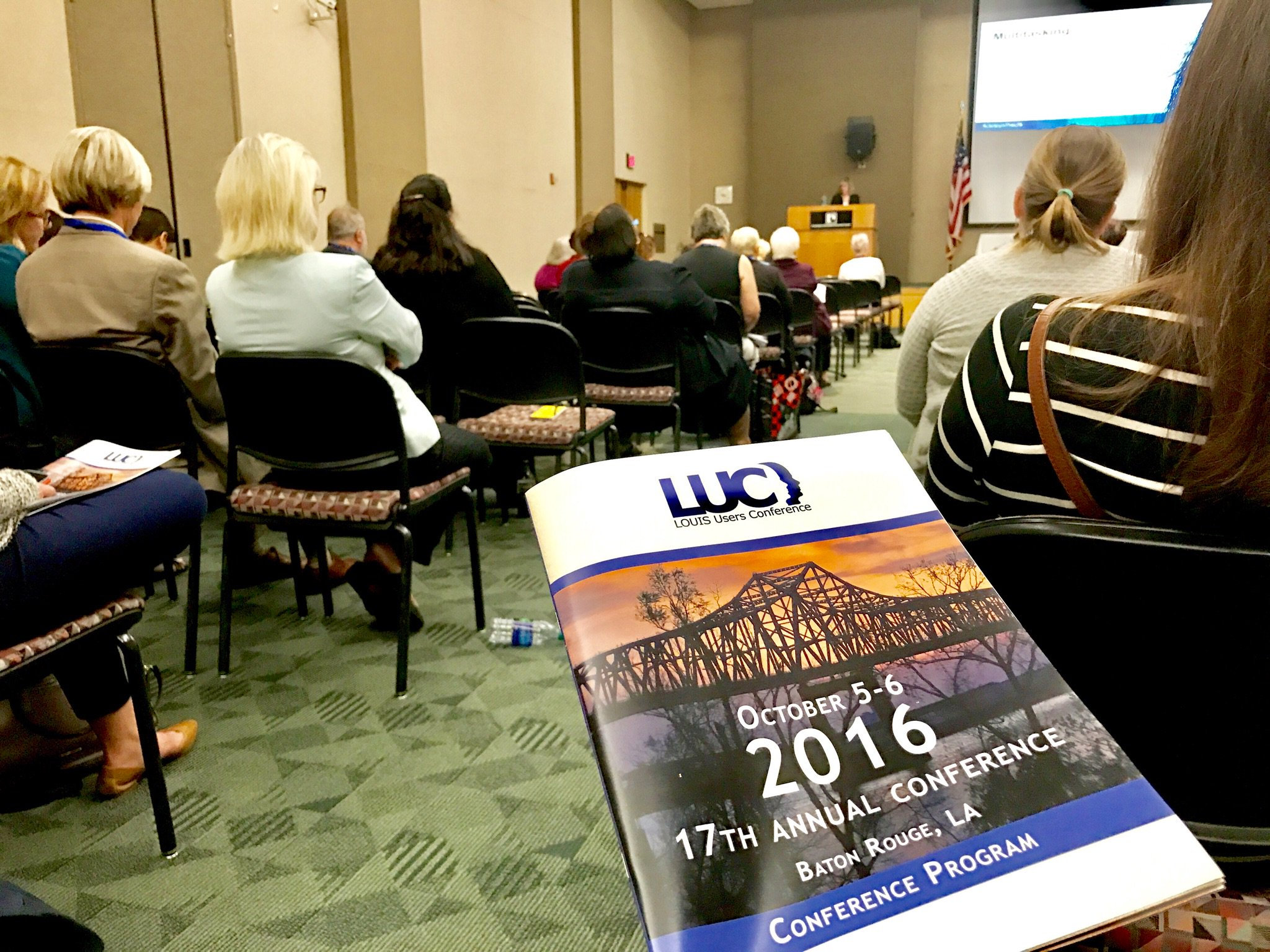 #LOUIS Users 17th Annual Conference #louisuc16 #happeningnow #BatonRouge @louislibraries #lahighered #Innovation https://t.co/8HgEuxAEtk