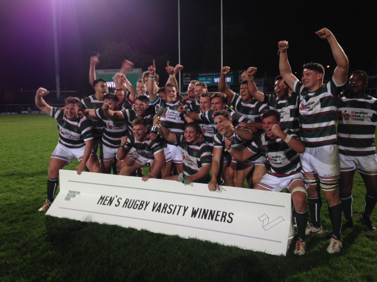 Your @LeedsVarsity16 Rugby Union Champions: @LURUFC. https://t.co/GGKf16Rkfm